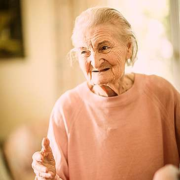 A resident at St Mary's Court